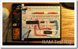 Picaxe-based RAM test rig